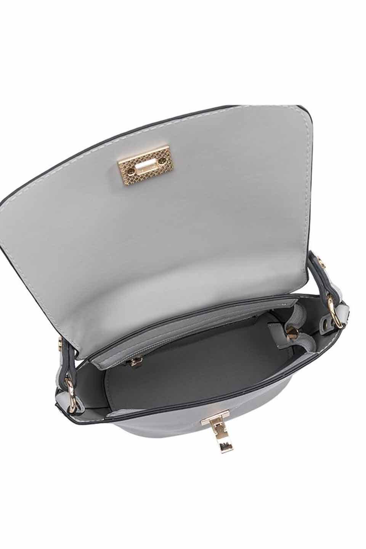 meliebiancoのRemy(Gray)スクエア・ミニハンドバッグ/海外ファッション好きにオススメのインポートバッグとかばん、MelieBianco(メリービアンコ)のバッグやショルダーバッグ。meliebianco(メリービアンコ)の2019年春夏の新作になります。メリービアンコ自慢のビーガンレザーを使用したアニマルフレンドリーなアイテム。/main-7