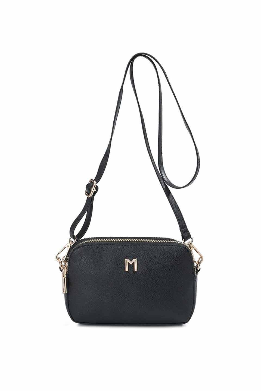 meliebiancoのEmilia(Black)ダブルジップ・ミニショルダーバッグ/海外ファッション好きにオススメのインポートバッグとかばん、MelieBianco(メリービアンコ)のバッグやショルダーバッグ。meliebianco(メリービアンコ)の2019年春夏の新作になります。メリービアンコ自慢のビーガンレザーを使用したアニマルフレンドリーなアイテム。/main-5