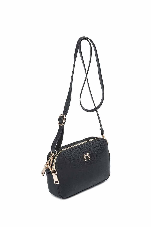 meliebiancoのEmilia(Black)ダブルジップ・ミニショルダーバッグ/海外ファッション好きにオススメのインポートバッグとかばん、MelieBianco(メリービアンコ)のバッグやショルダーバッグ。meliebianco(メリービアンコ)の2019年春夏の新作になります。メリービアンコ自慢のビーガンレザーを使用したアニマルフレンドリーなアイテム。/main-6