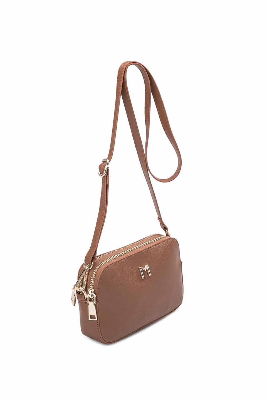 meliebiancoのEmilia(Saddle)ダブルジップ・ミニショルダーバッグ/海外ファッション好きにオススメのインポートバッグとかばん、MelieBianco(メリービアンコ)のバッグやショルダーバッグ。meliebianco(メリービアンコ)の2019年春夏の新作になります。メリービアンコ自慢のビーガンレザーを使用したアニマルフレンドリーなアイテム。/main-5