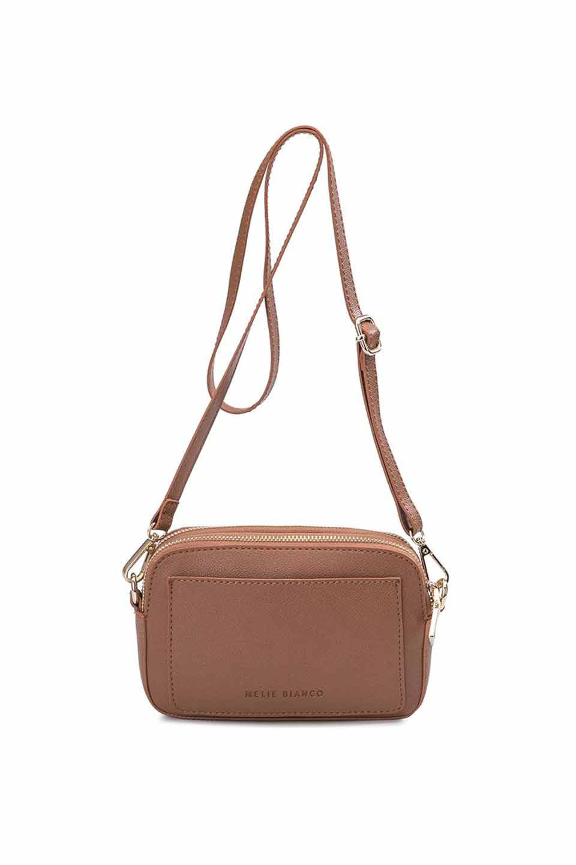 meliebiancoのEmilia(Saddle)ダブルジップ・ミニショルダーバッグ/海外ファッション好きにオススメのインポートバッグとかばん、MelieBianco(メリービアンコ)のバッグやショルダーバッグ。meliebianco(メリービアンコ)の2019年春夏の新作になります。メリービアンコ自慢のビーガンレザーを使用したアニマルフレンドリーなアイテム。/main-6