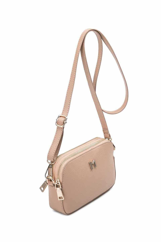 meliebiancoのEmilia(Nude)ダブルジップ・ミニショルダーバッグ/海外ファッション好きにオススメのインポートバッグとかばん、MelieBianco(メリービアンコ)のバッグやショルダーバッグ。meliebianco(メリービアンコ)の2019年春夏の新作になります。メリービアンコ自慢のビーガンレザーを使用したアニマルフレンドリーなアイテム。/main-7