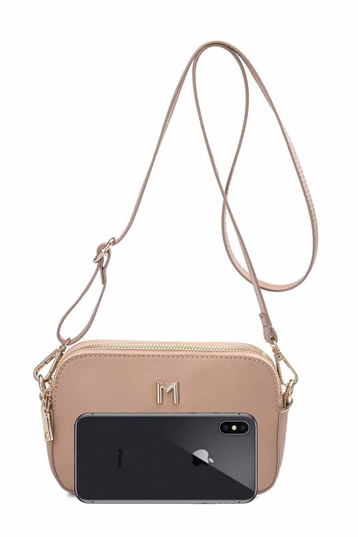 meliebiancoのEmilia(Nude)ダブルジップ・ミニショルダーバッグ/海外ファッション好きにオススメのインポートバッグとかばん、MelieBianco(メリービアンコ)のバッグやショルダーバッグ。meliebianco(メリービアンコ)の2019年春夏の新作になります。メリービアンコ自慢のビーガンレザーを使用したアニマルフレンドリーなアイテム。/main-9