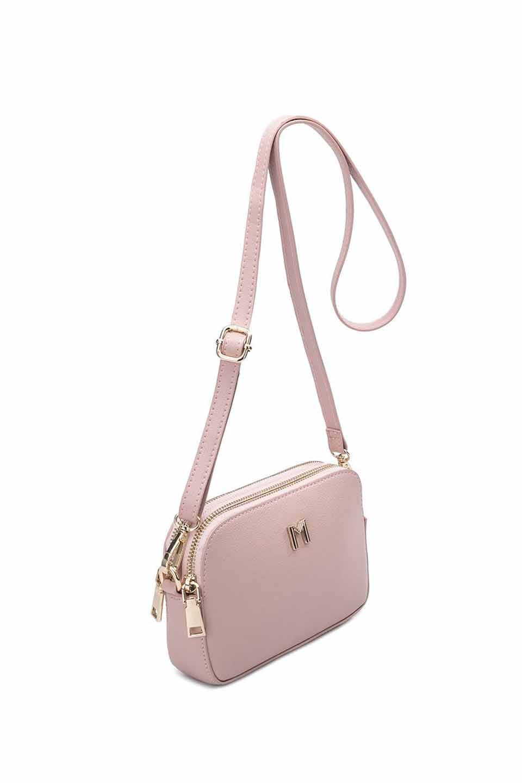 meliebiancoのEmilia(Blush)ダブルジップ・ミニショルダーバッグ/海外ファッション好きにオススメのインポートバッグとかばん、MelieBianco(メリービアンコ)のバッグやショルダーバッグ。meliebianco(メリービアンコ)の2019年春夏の新作になります。メリービアンコ自慢のビーガンレザーを使用したアニマルフレンドリーなアイテム。/main-5
