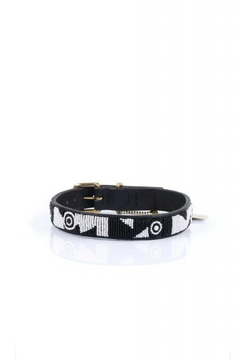 THE KENYAN COLLECTIONのEvony&Ivory Beaded Dog Collar 18