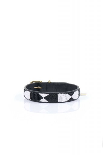 THE KENYAN COLLECTIONのEvony&Ivory Beaded Dog Collar 16