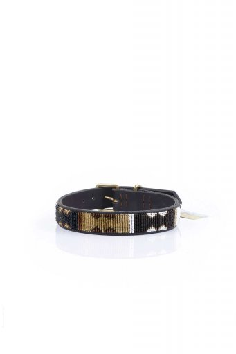 THE KENYAN COLLECTIONのEarth Beaded Dog Collar 16