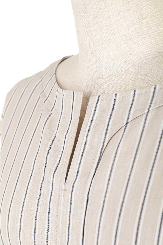 Multi-StripedLongSleeveLoseDressマルチストライプ・ワンピース大人カジュアルに最適な海外ファッションのothers(その他インポートアイテム)のワンピースやミディワンピース。春らしいカラーリングが目を引くマルチストライプのワンピース。張りのある生地で初夏まで着回せる素材感です。/main-22