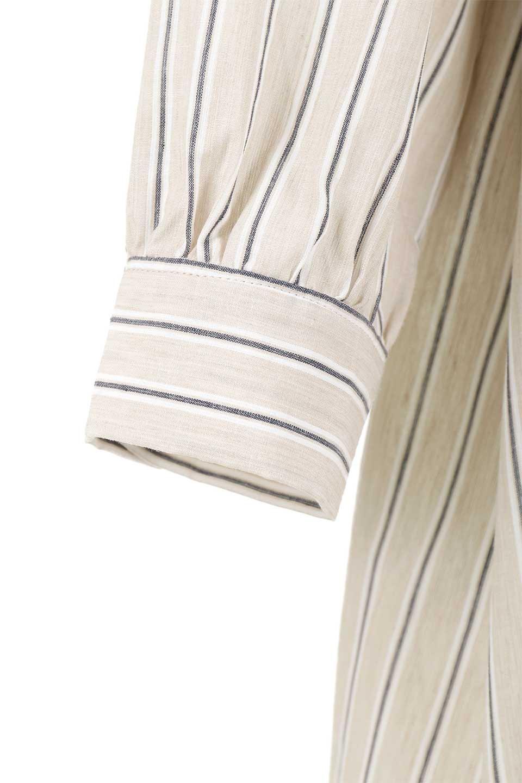 Multi-StripedLongSleeveLoseDressマルチストライプ・ワンピース大人カジュアルに最適な海外ファッションのothers(その他インポートアイテム)のワンピースやミディワンピース。春らしいカラーリングが目を引くマルチストライプのワンピース。張りのある生地で初夏まで着回せる素材感です。/main-28