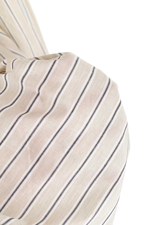 Multi-StripedLongSleeveLoseDressマルチストライプ・ワンピース大人カジュアルに最適な海外ファッションのothers(その他インポートアイテム)のワンピースやミディワンピース。春らしいカラーリングが目を引くマルチストライプのワンピース。張りのある生地で初夏まで着回せる素材感です。/main-33