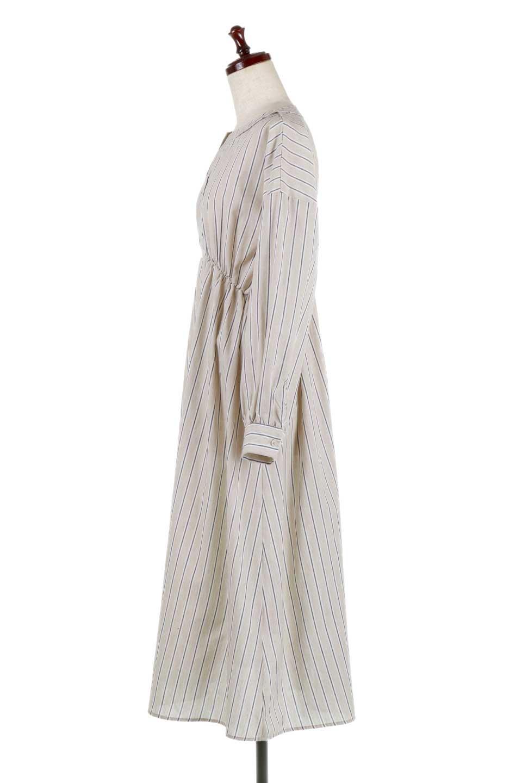 Multi-StripedLongSleeveLoseDressマルチストライプ・ワンピース大人カジュアルに最適な海外ファッションのothers(その他インポートアイテム)のワンピースやミディワンピース。春らしいカラーリングが目を引くマルチストライプのワンピース。張りのある生地で初夏まで着回せる素材感です。/main-7