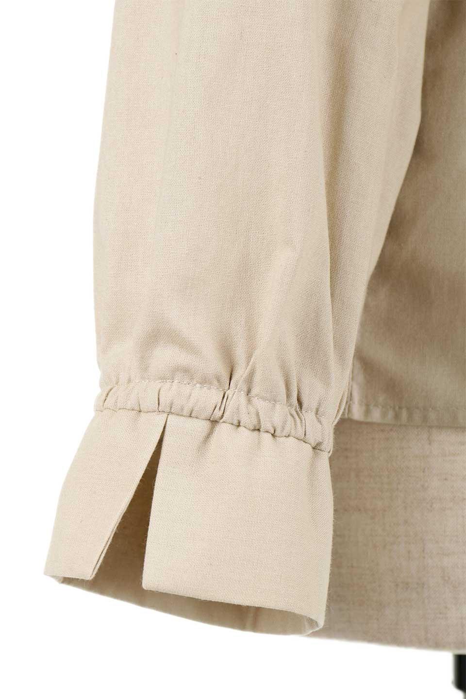 GatheredHighNeckBlouseギャザーハイネック・コットンブラウス大人カジュアルに最適な海外ファッションのothers(その他インポートアイテム)のトップスやシャツ・ブラウス。ギャザーを配した低めのハイネックの長袖ブラウス。コットン100%でリネンのようなシャキッとしたハリのある素材感でナチュラルな雰囲気です。/main-20