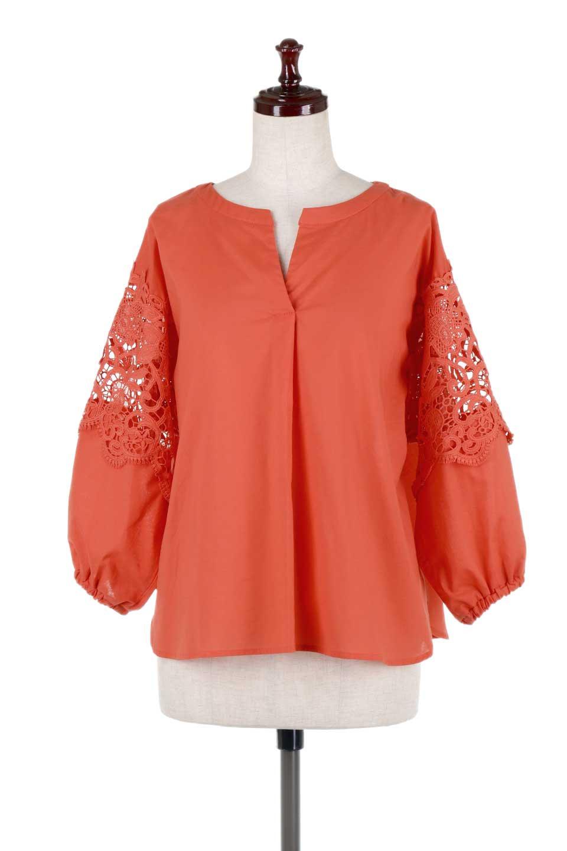 CutworkSleeveBlouseカットワークスリーブ・9分袖ブラウス大人カジュアルに最適な海外ファッションのothers(その他インポートアイテム)のトップスやシャツ・ブラウス。袖のカットワークレースが春気分を盛り上げる9分袖ブラウス。ゆったりとしたボックス型のシルエットをカットワークが女性らしく見せてくれます。/main-10