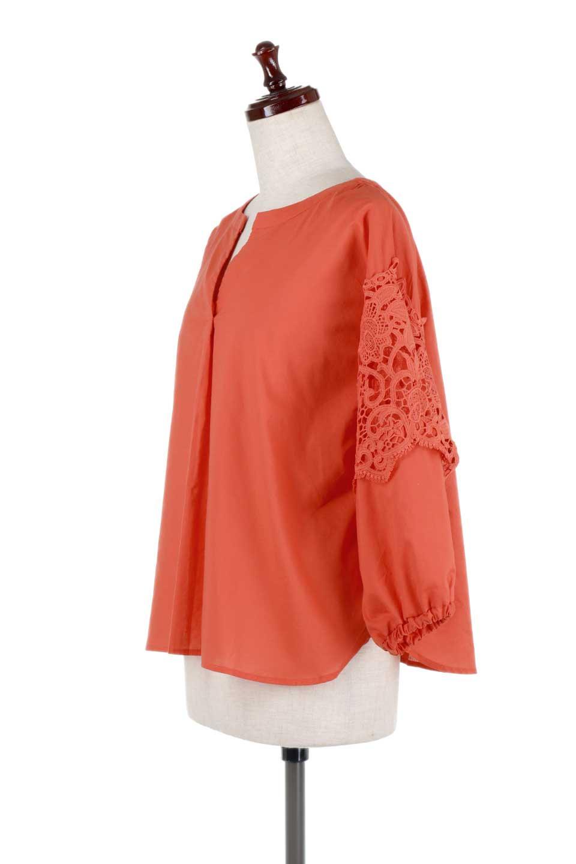 CutworkSleeveBlouseカットワークスリーブ・9分袖ブラウス大人カジュアルに最適な海外ファッションのothers(その他インポートアイテム)のトップスやシャツ・ブラウス。袖のカットワークレースが春気分を盛り上げる9分袖ブラウス。ゆったりとしたボックス型のシルエットをカットワークが女性らしく見せてくれます。/main-11