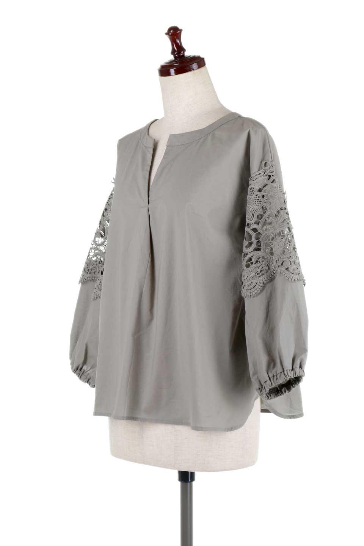 CutworkSleeveBlouseカットワークスリーブ・9分袖ブラウス大人カジュアルに最適な海外ファッションのothers(その他インポートアイテム)のトップスやシャツ・ブラウス。袖のカットワークレースが春気分を盛り上げる9分袖ブラウス。ゆったりとしたボックス型のシルエットをカットワークが女性らしく見せてくれます。/main-16