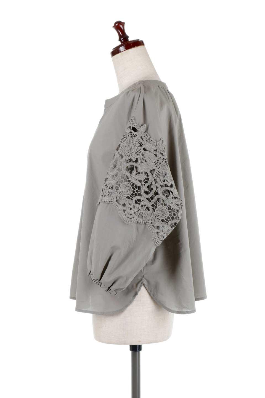 CutworkSleeveBlouseカットワークスリーブ・9分袖ブラウス大人カジュアルに最適な海外ファッションのothers(その他インポートアイテム)のトップスやシャツ・ブラウス。袖のカットワークレースが春気分を盛り上げる9分袖ブラウス。ゆったりとしたボックス型のシルエットをカットワークが女性らしく見せてくれます。/main-17