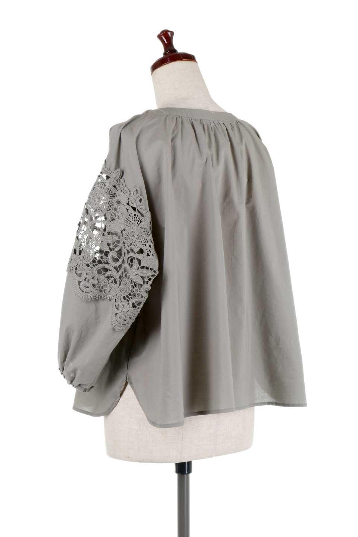 CutworkSleeveBlouseカットワークスリーブ・9分袖ブラウス大人カジュアルに最適な海外ファッションのothers(その他インポートアイテム)のトップスやシャツ・ブラウス。袖のカットワークレースが春気分を盛り上げる9分袖ブラウス。ゆったりとしたボックス型のシルエットをカットワークが女性らしく見せてくれます。/main-18