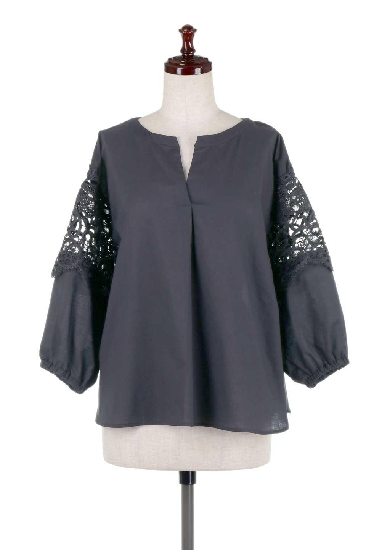 CutworkSleeveBlouseカットワークスリーブ・9分袖ブラウス大人カジュアルに最適な海外ファッションのothers(その他インポートアイテム)のトップスやシャツ・ブラウス。袖のカットワークレースが春気分を盛り上げる9分袖ブラウス。ゆったりとしたボックス型のシルエットをカットワークが女性らしく見せてくれます。/main-20