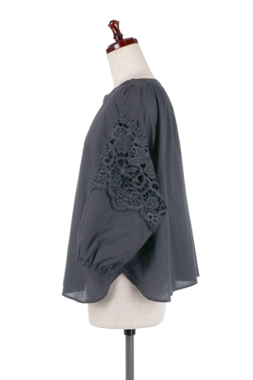 CutworkSleeveBlouseカットワークスリーブ・9分袖ブラウス大人カジュアルに最適な海外ファッションのothers(その他インポートアイテム)のトップスやシャツ・ブラウス。袖のカットワークレースが春気分を盛り上げる9分袖ブラウス。ゆったりとしたボックス型のシルエットをカットワークが女性らしく見せてくれます。/main-22