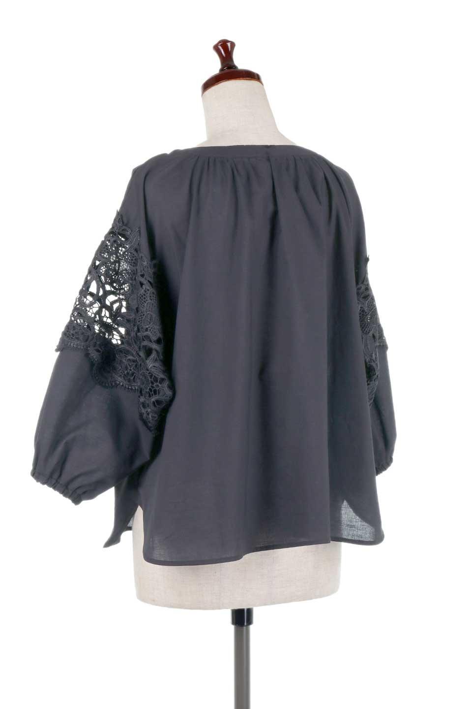 CutworkSleeveBlouseカットワークスリーブ・9分袖ブラウス大人カジュアルに最適な海外ファッションのothers(その他インポートアイテム)のトップスやシャツ・ブラウス。袖のカットワークレースが春気分を盛り上げる9分袖ブラウス。ゆったりとしたボックス型のシルエットをカットワークが女性らしく見せてくれます。/main-23