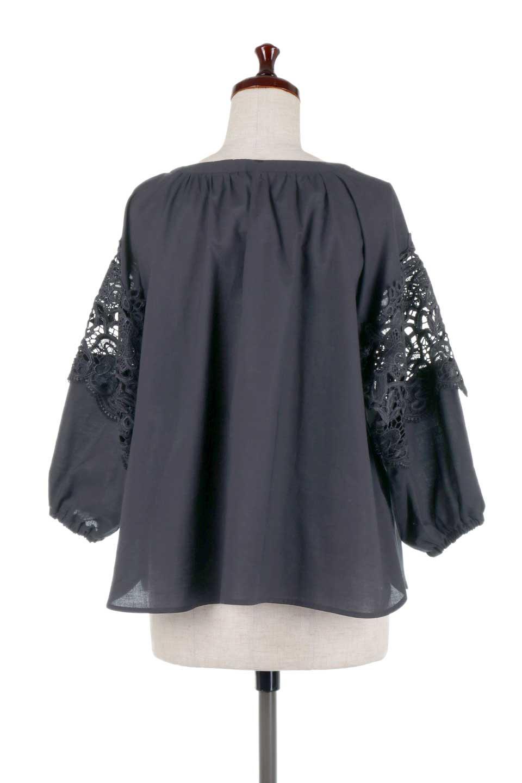 CutworkSleeveBlouseカットワークスリーブ・9分袖ブラウス大人カジュアルに最適な海外ファッションのothers(その他インポートアイテム)のトップスやシャツ・ブラウス。袖のカットワークレースが春気分を盛り上げる9分袖ブラウス。ゆったりとしたボックス型のシルエットをカットワークが女性らしく見せてくれます。/main-24