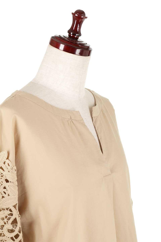 CutworkSleeveBlouseカットワークスリーブ・9分袖ブラウス大人カジュアルに最適な海外ファッションのothers(その他インポートアイテム)のトップスやシャツ・ブラウス。袖のカットワークレースが春気分を盛り上げる9分袖ブラウス。ゆったりとしたボックス型のシルエットをカットワークが女性らしく見せてくれます。/main-25