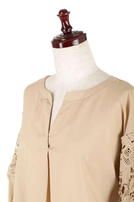 CutworkSleeveBlouseカットワークスリーブ・9分袖ブラウス大人カジュアルに最適な海外ファッションのothers(その他インポートアイテム)のトップスやシャツ・ブラウス。袖のカットワークレースが春気分を盛り上げる9分袖ブラウス。ゆったりとしたボックス型のシルエットをカットワークが女性らしく見せてくれます。/main-26