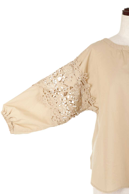 CutworkSleeveBlouseカットワークスリーブ・9分袖ブラウス大人カジュアルに最適な海外ファッションのothers(その他インポートアイテム)のトップスやシャツ・ブラウス。袖のカットワークレースが春気分を盛り上げる9分袖ブラウス。ゆったりとしたボックス型のシルエットをカットワークが女性らしく見せてくれます。/main-30