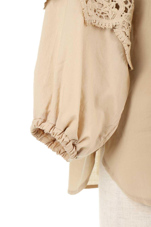 CutworkSleeveBlouseカットワークスリーブ・9分袖ブラウス大人カジュアルに最適な海外ファッションのothers(その他インポートアイテム)のトップスやシャツ・ブラウス。袖のカットワークレースが春気分を盛り上げる9分袖ブラウス。ゆったりとしたボックス型のシルエットをカットワークが女性らしく見せてくれます。/main-34