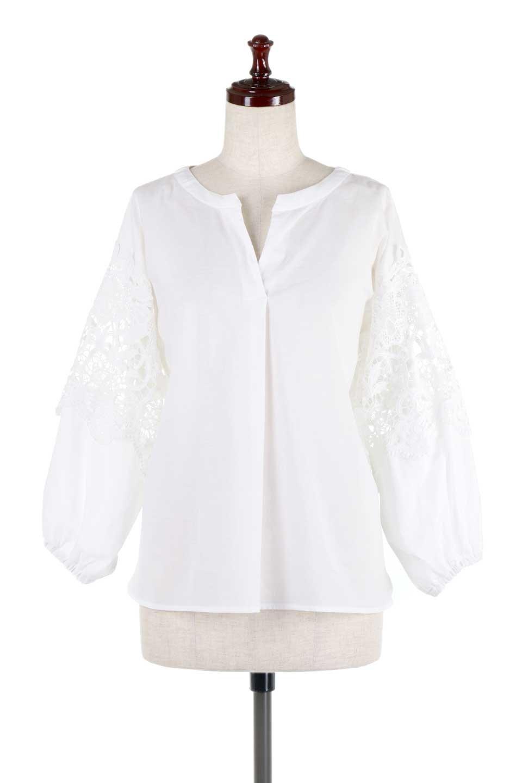 CutworkSleeveBlouseカットワークスリーブ・9分袖ブラウス大人カジュアルに最適な海外ファッションのothers(その他インポートアイテム)のトップスやシャツ・ブラウス。袖のカットワークレースが春気分を盛り上げる9分袖ブラウス。ゆったりとしたボックス型のシルエットをカットワークが女性らしく見せてくれます。/main-5