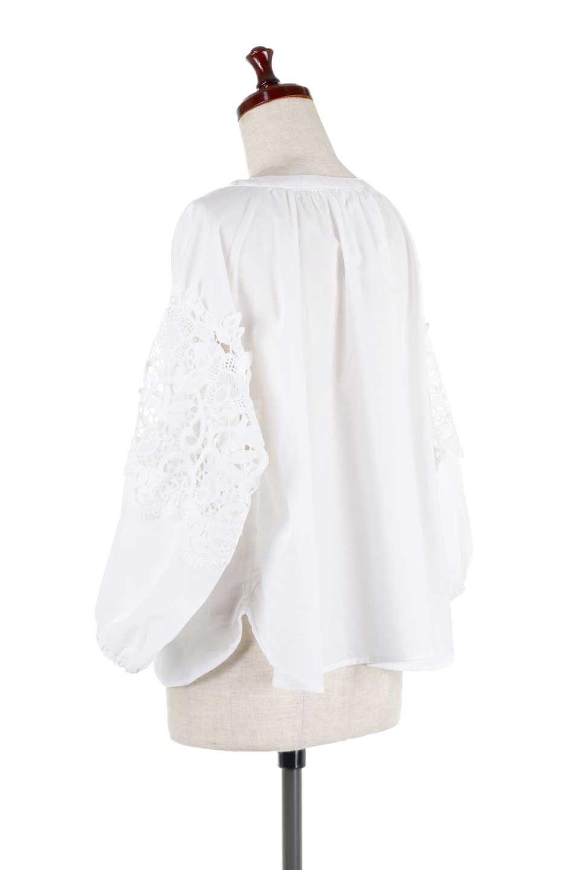 CutworkSleeveBlouseカットワークスリーブ・9分袖ブラウス大人カジュアルに最適な海外ファッションのothers(その他インポートアイテム)のトップスやシャツ・ブラウス。袖のカットワークレースが春気分を盛り上げる9分袖ブラウス。ゆったりとしたボックス型のシルエットをカットワークが女性らしく見せてくれます。/main-8
