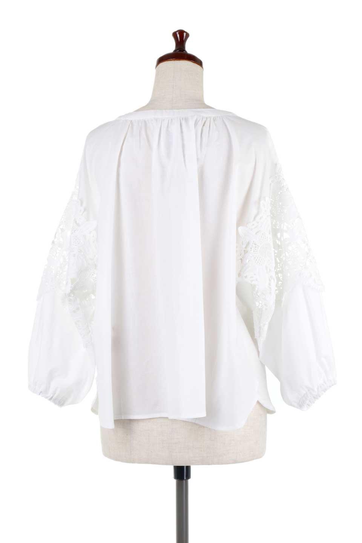 CutworkSleeveBlouseカットワークスリーブ・9分袖ブラウス大人カジュアルに最適な海外ファッションのothers(その他インポートアイテム)のトップスやシャツ・ブラウス。袖のカットワークレースが春気分を盛り上げる9分袖ブラウス。ゆったりとしたボックス型のシルエットをカットワークが女性らしく見せてくれます。/main-9