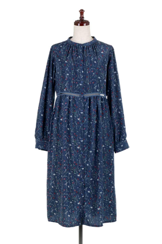 FloralPrintedLongSleeveDress小花柄・長袖ワンピース大人カジュアルに最適な海外ファッションのothers(その他インポートアイテム)のワンピースやミディワンピース。オールシーズン着回せる小花柄のワンピース。ゆったりサイズですが袖が細めなので案外スッキリしたイメージです。/main-10