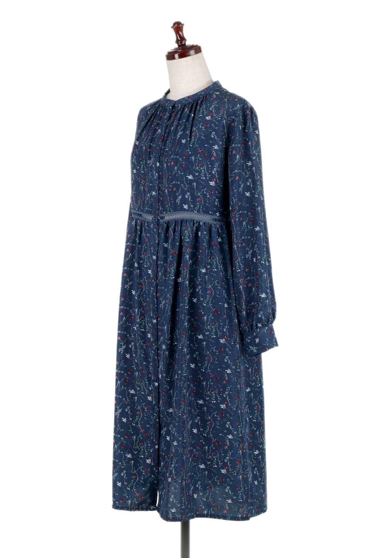 FloralPrintedLongSleeveDress小花柄・長袖ワンピース大人カジュアルに最適な海外ファッションのothers(その他インポートアイテム)のワンピースやミディワンピース。オールシーズン着回せる小花柄のワンピース。ゆったりサイズですが袖が細めなので案外スッキリしたイメージです。/main-11