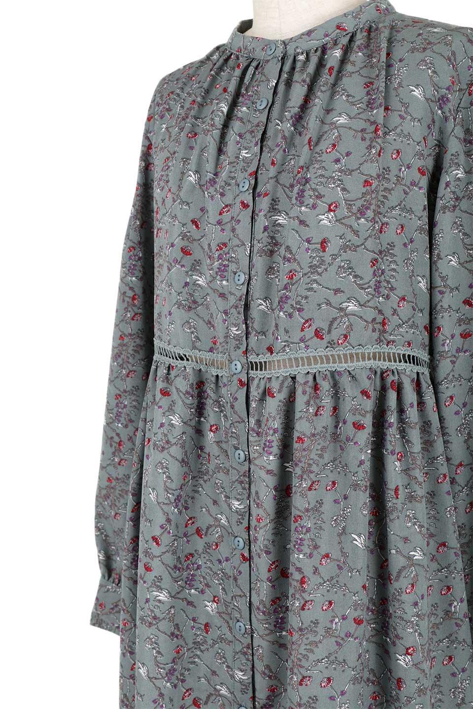 FloralPrintedLongSleeveDress小花柄・長袖ワンピース大人カジュアルに最適な海外ファッションのothers(その他インポートアイテム)のワンピースやミディワンピース。オールシーズン着回せる小花柄のワンピース。ゆったりサイズですが袖が細めなので案外スッキリしたイメージです。/main-21