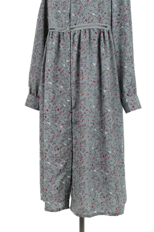 FloralPrintedLongSleeveDress小花柄・長袖ワンピース大人カジュアルに最適な海外ファッションのothers(その他インポートアイテム)のワンピースやミディワンピース。オールシーズン着回せる小花柄のワンピース。ゆったりサイズですが袖が細めなので案外スッキリしたイメージです。/main-24