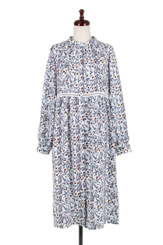 FloralPrintedLongSleeveDress小花柄・長袖ワンピース大人カジュアルに最適な海外ファッションのothers(その他インポートアイテム)のワンピースやミディワンピース。オールシーズン着回せる小花柄のワンピース。ゆったりサイズですが袖が細めなので案外スッキリしたイメージです。/main-5