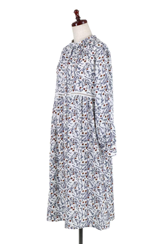 FloralPrintedLongSleeveDress小花柄・長袖ワンピース大人カジュアルに最適な海外ファッションのothers(その他インポートアイテム)のワンピースやミディワンピース。オールシーズン着回せる小花柄のワンピース。ゆったりサイズですが袖が細めなので案外スッキリしたイメージです。/main-6