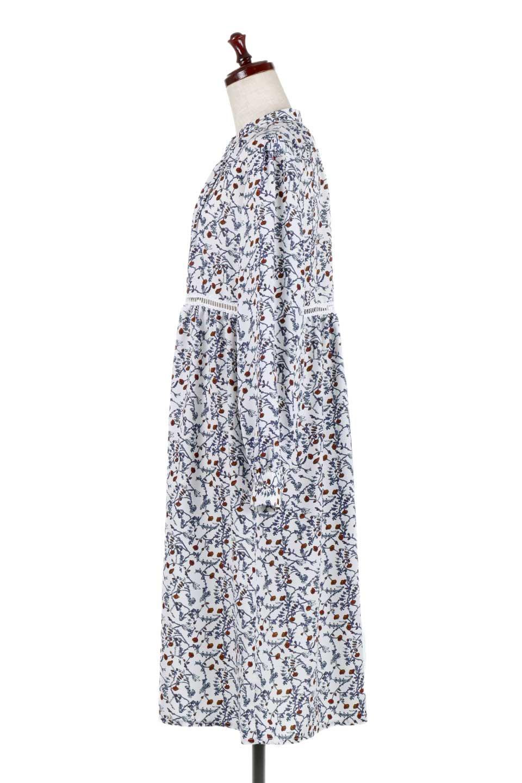FloralPrintedLongSleeveDress小花柄・長袖ワンピース大人カジュアルに最適な海外ファッションのothers(その他インポートアイテム)のワンピースやミディワンピース。オールシーズン着回せる小花柄のワンピース。ゆったりサイズですが袖が細めなので案外スッキリしたイメージです。/main-7