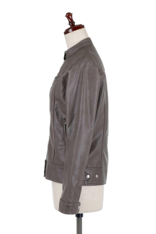 EcoLeatherSingleBikerJacketエコレザー・シングルライダース大人カジュアルに最適な海外ファッションのothers(その他インポートアイテム)のアウターやジャケット。すっかり定番のライダースジャケット。ダブルではなくシングルで、しかもブラックではなく軽めの春カラーでお楽しみ下さい。/main-12