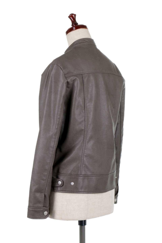 EcoLeatherSingleBikerJacketエコレザー・シングルライダース大人カジュアルに最適な海外ファッションのothers(その他インポートアイテム)のアウターやジャケット。すっかり定番のライダースジャケット。ダブルではなくシングルで、しかもブラックではなく軽めの春カラーでお楽しみ下さい。/main-13