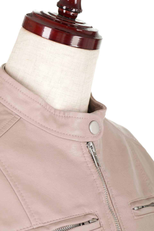 EcoLeatherSingleBikerJacketエコレザー・シングルライダース大人カジュアルに最適な海外ファッションのothers(その他インポートアイテム)のアウターやジャケット。すっかり定番のライダースジャケット。ダブルではなくシングルで、しかもブラックではなく軽めの春カラーでお楽しみ下さい。/main-15