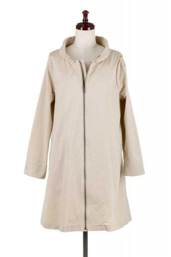 海外ファッションや大人カジュアルに最適なインポートセレクトアイテムのStand Collar Stretch Spring Coat ストレッチコットン・スプリングコート
