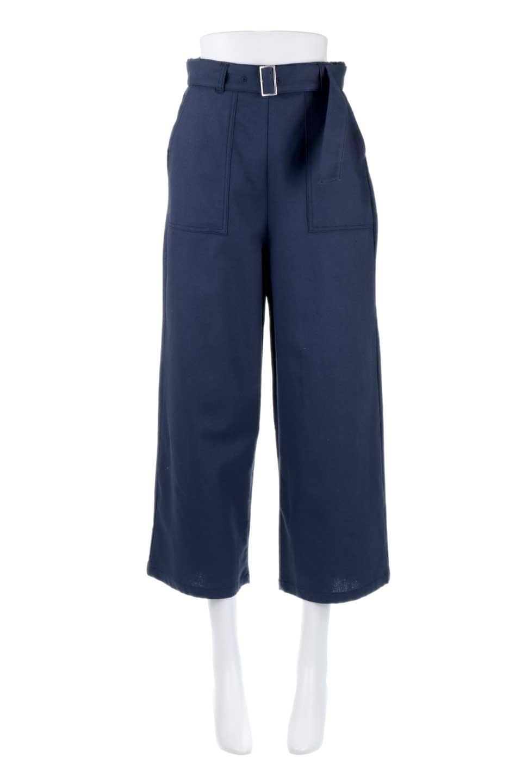 CroppedWidePantsベルト付き・クロップドワイドパンツ大人カジュアルに最適な海外ファッションのothers(その他インポートアイテム)のボトムやパンツ。コットンのざっくり生地のワイドパンツ。太めで短め。/main-10
