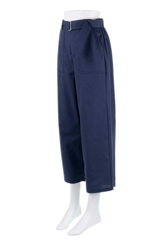 CroppedWidePantsベルト付き・クロップドワイドパンツ大人カジュアルに最適な海外ファッションのothers(その他インポートアイテム)のボトムやパンツ。コットンのざっくり生地のワイドパンツ。太めで短め。/main-11