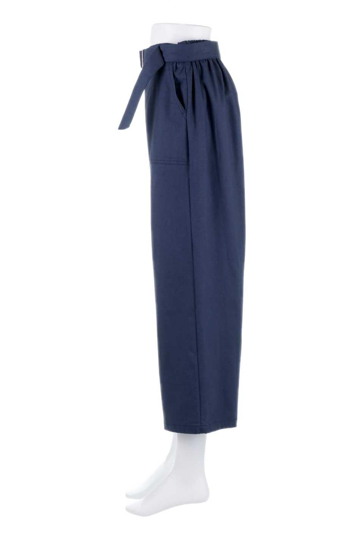 CroppedWidePantsベルト付き・クロップドワイドパンツ大人カジュアルに最適な海外ファッションのothers(その他インポートアイテム)のボトムやパンツ。コットンのざっくり生地のワイドパンツ。太めで短め。/main-12