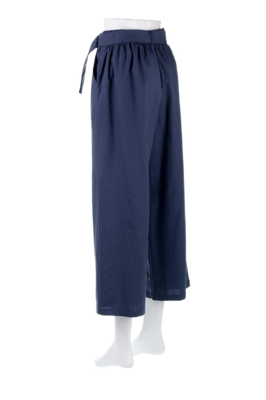 CroppedWidePantsベルト付き・クロップドワイドパンツ大人カジュアルに最適な海外ファッションのothers(その他インポートアイテム)のボトムやパンツ。コットンのざっくり生地のワイドパンツ。太めで短め。/main-13