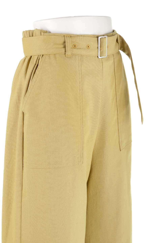 CroppedWidePantsベルト付き・クロップドワイドパンツ大人カジュアルに最適な海外ファッションのothers(その他インポートアイテム)のボトムやパンツ。コットンのざっくり生地のワイドパンツ。太めで短め。/main-15