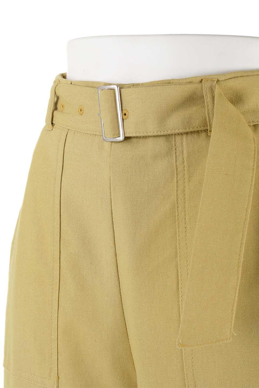 CroppedWidePantsベルト付き・クロップドワイドパンツ大人カジュアルに最適な海外ファッションのothers(その他インポートアイテム)のボトムやパンツ。コットンのざっくり生地のワイドパンツ。太めで短め。/main-16