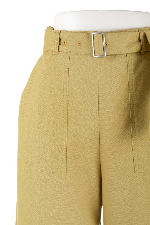 CroppedWidePantsベルト付き・クロップドワイドパンツ大人カジュアルに最適な海外ファッションのothers(その他インポートアイテム)のボトムやパンツ。コットンのざっくり生地のワイドパンツ。太めで短め。/main-17